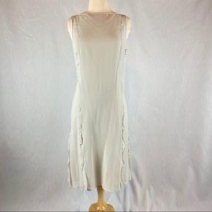 Adrienne Vittadini Silk Dress Size 8 pale blue